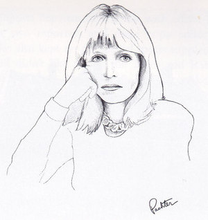Rosemary Sexton drawn by Canadian artist Charles Pachter